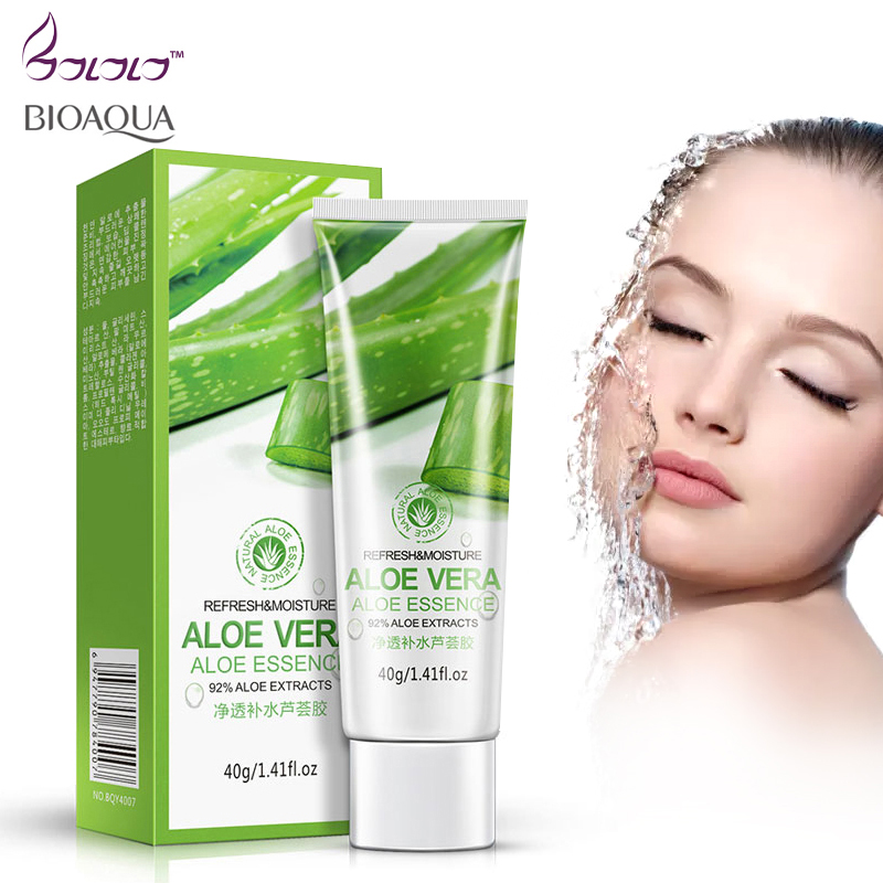 aloe vera gel face moisturizer anti wrinkle cream acne scar skin whitening skin care sunscreen acne treatment cosmetics bioaqua fulljion aloe hyaluronic acid moisturizer aloe vera pure liquid essence serum face care acne treatment whitening anti wrinkle