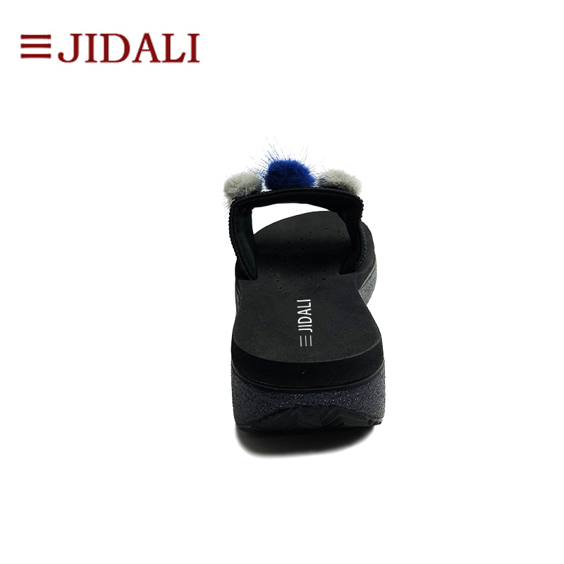 35 Plate Sandales Flip Haute Noir Boules Poilu forme Eva Jidali 40 Femmes D'été Chaussures Taille Black Coins À Bling Flop Sport Mode L'extérieur FqTxMw6R