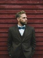 Мужской классический костюм твидовый пиджак костюм мужской новейший дизайн пальто брюки костюмы Зимние винтажные официальные свадебные к