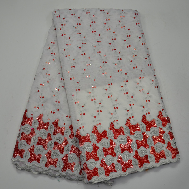 (5yards/pc) white and red African Organza lace fabric with lots of sequins newest mesh lace with embroidery for party OP44(5yards/pc) white and red African Organza lace fabric with lots of sequins newest mesh lace with embroidery for party OP44