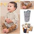 Do bebê do Algodão Polainas Infantil Rastejando Joelheiras Crianças Moda Legging Meias Estilos Japoneses Protetor de Joelhos para Meninos e Meninas