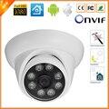8 PCS MATRIZ de LED Videcam Interior Vandal-Proof Dome Ao Ar Livre Câmera IP 720 P 960 P 1080 P 25fps ONVIF CCTV Câmera IP