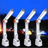 Đèn Bàn hiện đại Tay Năng Lượng Mặt Trời USB Sạc Có Thể Điều Chỉnh Cảm Ứng Chuyển Đổi Dimmable Bàn Table Lamp Chăm Sóc Mắt DẪN Light Reading Book ánh sáng