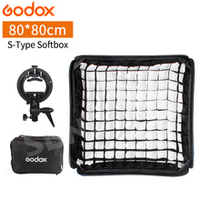Godox Ajustable Flash Softbox Grid 80cm * 80cm + S type Bracket + Honeycomb Grid Mount Kit for Flash Speedlite Studio Shooting цена 2017