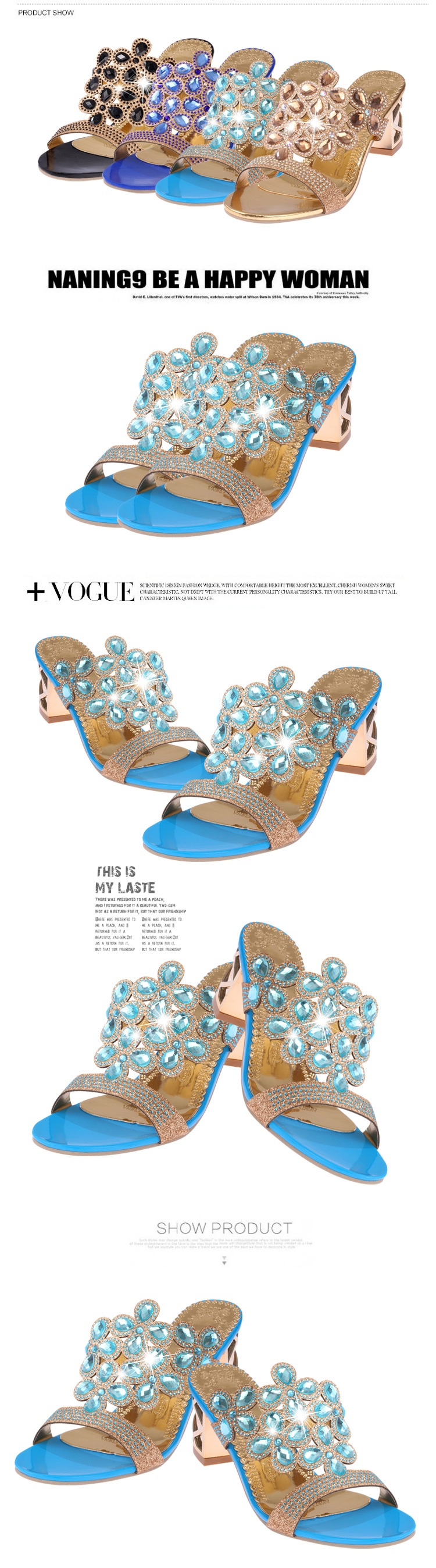 HTB1ra3QcamWBuNkHFJHq6yatVXaG Designer Sandals Women 2018 Ladies Slides Women Slippers Sandals Summer Crystal Shoes Peep Toe Middle Heels Zapatos Mujer