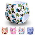 Hot 2 pcs=1 lot Cotton Baby newborn Printing diapers Reusable nappies Training pant Adjustable size Children Washable diapers