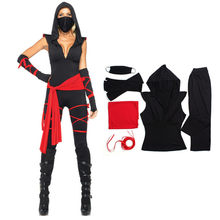 Halloween Cosplay Giapponese Anime Nero Ninja Warrior Costumi Fantasia Infantil Ragazza di Cosplay Femminile Carnaval Purim Del Partito Del Costume(China)