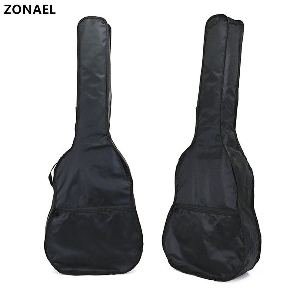 ZONAEL 40 41 Inch Guitar Bag Oxford Acoustic Guitar Padded Guitar Waterproof Backpack Gig Bag Soft Case Single Shoulder Straps