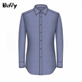 Рубашка На Заказ Синий Рубашки Платья Заказунаша Slim Fit хлопок Рубашки Платья Для Комфорта Крашения и Отделки из T/C оксфорд