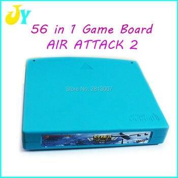 Juego de Jamma Arcade Vertical, 56 en 1, ataque aéreo, el rey...