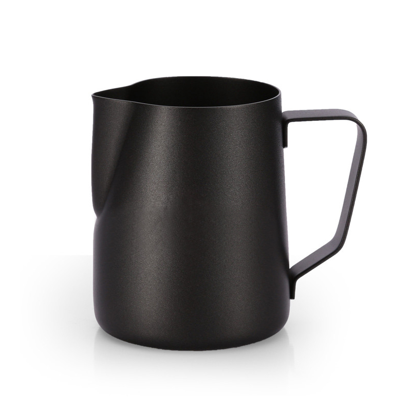 Black Non Stick Stainless Steel Espresso Coffee Pitcher