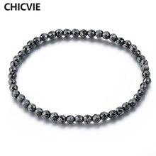 Chicvie дропшиппинг черный на заказ мужской браслет из нержавеющей
