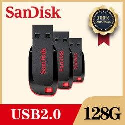 سانديسك فلاشة مزودة بفتحة يو إس بي حملة القلم 128 GB 64 GB 32G 16 GB 8 gb البسيطة بندريف Flashdisk مع سلك MicroUSB TypeC USB محول للهاتف PC