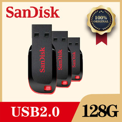 SanDisk Flash USB Pen Drive 128GB GB 32 64G 16GB Flashdisk 8gb Mini-pendrive com MicroUSB typeC USB Adaptador para Telefone PC