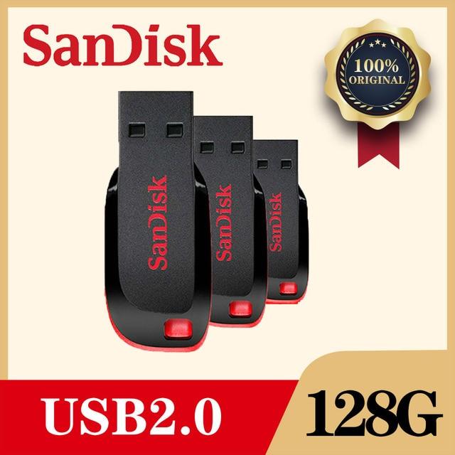 SanDisk USB Flash Pen Drive 128GB 64GB 32G 16GB 8gb Mini Pendrive Flashdisk with MicroUSB TypeC USB Adapter for Phone PC