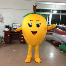 Loquat Mascot Costume Fruit Cartoon Apparel Halloween Birthday Cosplay Adult Size