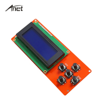 1Pcs Anet 3D Printer Part Controller RAMPS 1 4 LCD 2004 Control Panel Blue Screen Plug