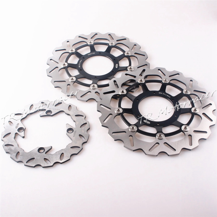 Motorcycle Front & Rear Brake Disc Rotor For Honda CBR 600RR 2003-2012 F5 CBR 1000RR  2004-2005 CBR1000RR-ABS 2009-2011 arashi motorcycle radiator grille protective cover grill guard protector for 2008 2009 2010 2011 honda cbr1000rr cbr 1000 rr