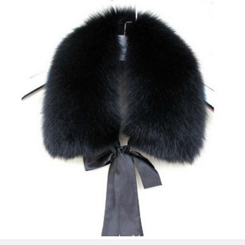 Waledise Winter Women's Imitation Fur Imitation Rabbit False Collar Warm Wool New Faux Raccoon Winter Jacket Hood Detachable