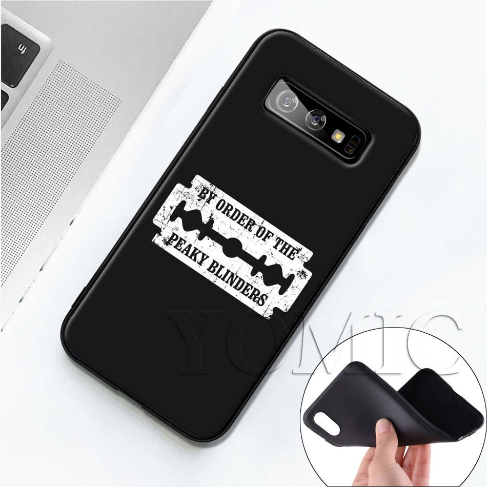 Peaky Blinders Cross Logo Black Case For Samsung Galaxy S20 Ultra 5G S10 S10e S8 S9 Plus A50 A51 A71 Note 8 9 10 TPU Soft Cover