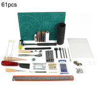 61PCS Leather Craft Tool Leather Sewing Tools Kit Leather DIY Hand Stitching Tools for Sewing Leather Canvas