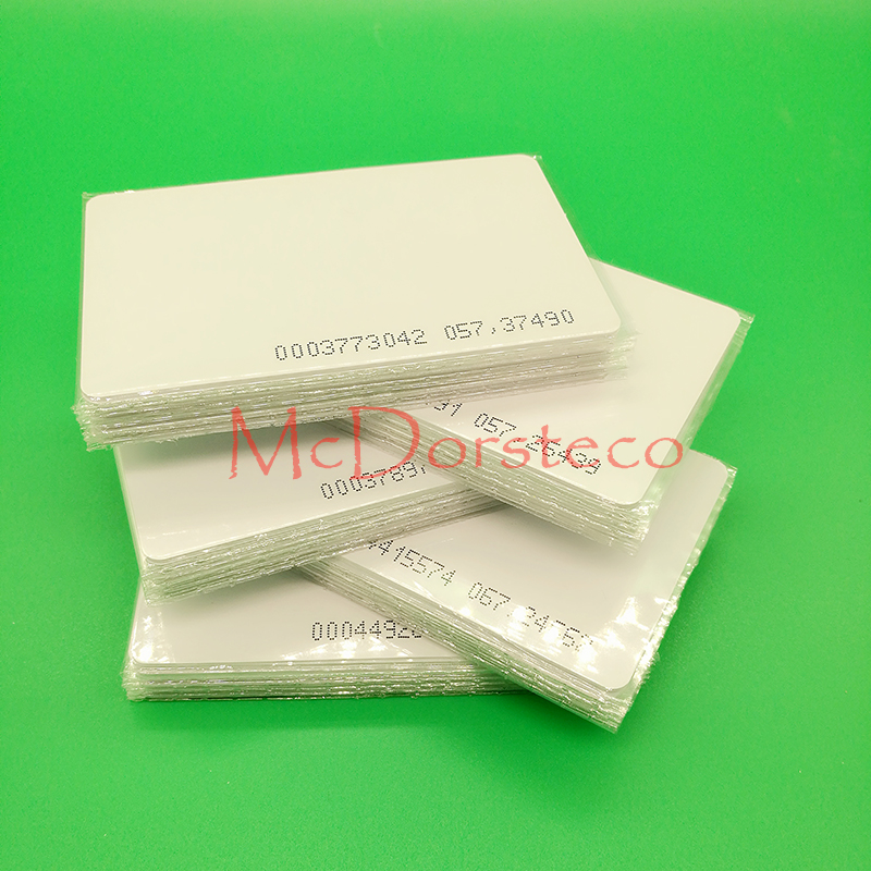 50 pcs 0.8mm ID thin Card TK4100 Chip Read only 125kHz RFID ID Card Access Control System Card Access Key Only mango 103 em id thin card white 200 pcs