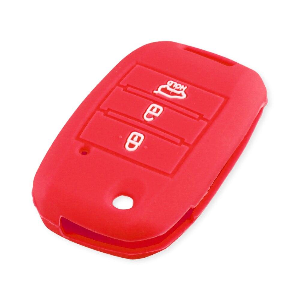 KEYYOU силиконовый откидной складной чехол для ключа автомобиля для KIA Sid Rio Soul Sportage Ceed Sorento Cerato K2 K3 K4 K5 чехол для дистанционного управления - Название цвета: red
