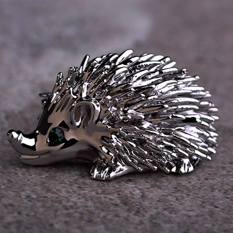 Blucom Cute Hedgehog Animal Brooch Pins For Men Jewelry Fashion Women's Vintage Pin Brooch Statement Punk Broches Hijab bijoux brooch pins pink flamingo brooches for women love cute gift enamel lapel pin broche broches 2018 fashion jewelry accessories