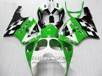 Customize green Fairing kit For Kawasaki ninja ZX7R 1996 1999 1998 2003 ( +7gifts ) 96 03 Fairings a15