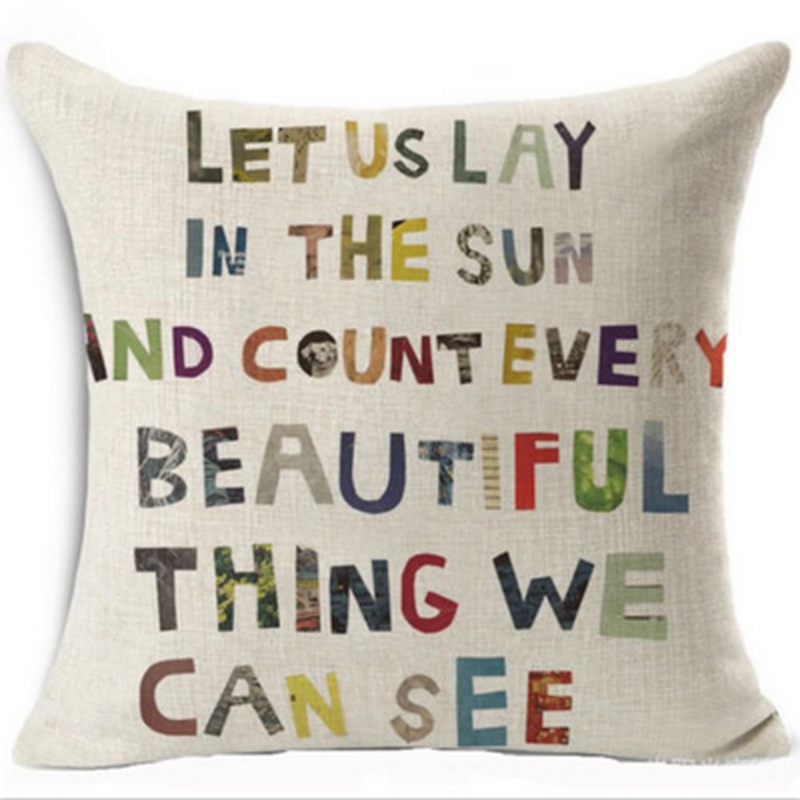 Romantic Words Quote Pillow Cases Home Decor PIllow Case Cotton Delectable Decorative Pillows With Quotes