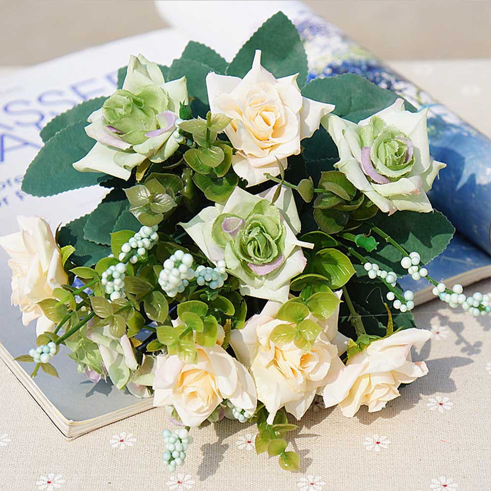 Silk flowers clearance image collections flower decoration ideas 10 heads cheap artificial flowers christmas decorations for home 10 heads cheap artificial flowers christmas decorations mightylinksfo