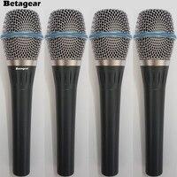Beta87a 4 шт. 87A конденсаторный микрофон проводной Ручной вокальный микрофон суперкардиоида конденсаторный microfono 87 вокальный микрофон