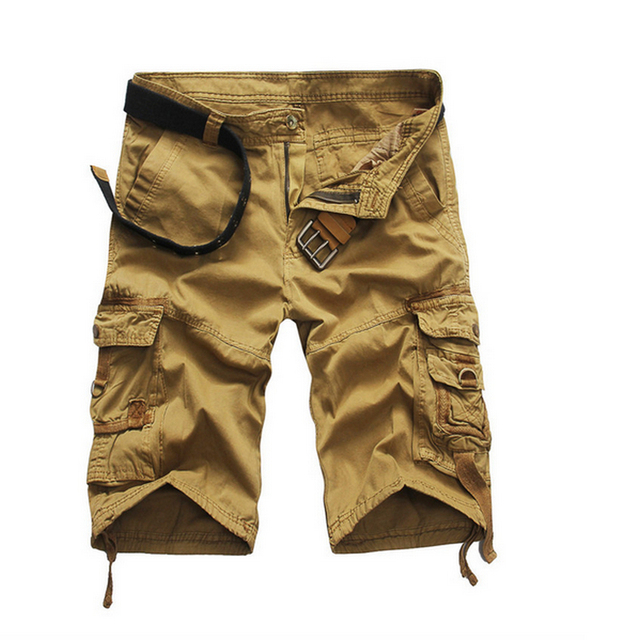 New 2016 brand men's casual camouflage loose cargo shorts men large size multi-pocket military short pants overalls 8 colors