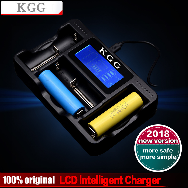 KGG LCD Display USB Rapid Intelligent Charger For AA/AAA/AAAA/C 18650 18350 26650 22650 10440 14500 NiMH Battery Smart Charger