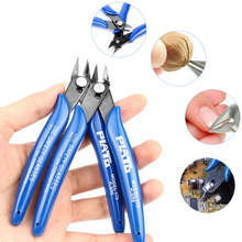 1Pcs Electrical Wire Cable Cutters Cutting Side Snips Pliers Mini Functional Hand Tools Stainless Steel Anti-slip Blue