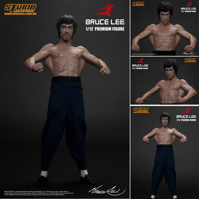 6 Bruce Lee Chinese Kungfu Star PVC Action Figure Resin Collection Model Toy Cosplay 1/12 Model Real Clothes Double Heads 1 6 scale the game of death bruce lee head sculpt and kungfu clothes for 12 inches figures bodies