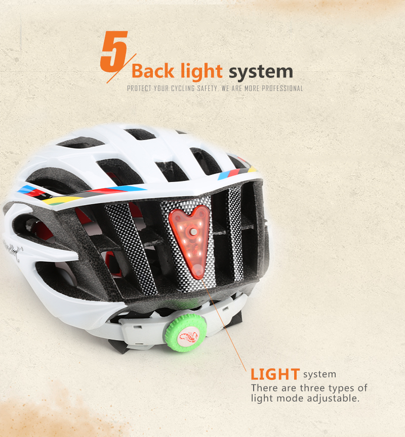 Ultralight helmet Intergrally-molded Women Men Cycling Helmet Bicycle Helmet MTB Bike Outdoor Sports Mountain Road MTB Bicycle Casco Ciclismo Capacete With LED Warning Lights (8)
