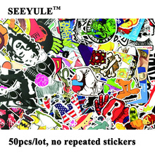 50pcs/lot SEEYULE Car Styling decal Stickers for Graffiti Car Cover Skateboard Snowboard Motorcycle Laptop Sticker Accessories high quality car styling sticker bomb skateboard stickers doodle graffiti snowboard bike motorcycle accessories luggage bags
