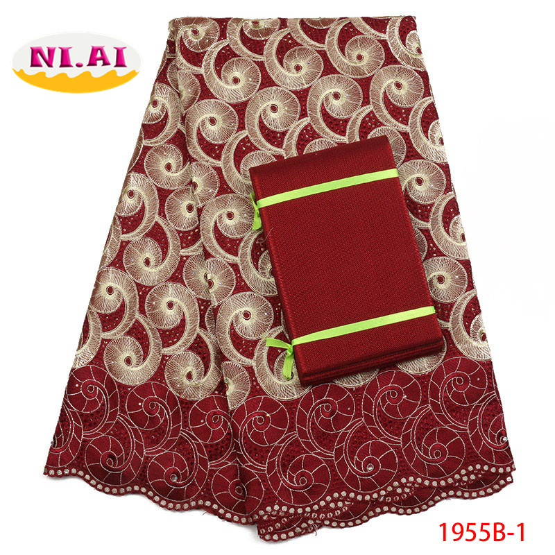 2018 High Quality African Cotton lace Swiss Cotton Lace With Asoebi African Lace Fabrics For Nigerian