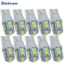 Safego 10pcs W5W T10 194 168 LED Car Clearance Wedge Bulbs 10 SMD 1210 3528 Car Interior Lamp Tail Light White 6000K DC 12V