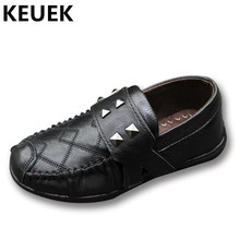New Children Leather Shoes Boys Casual Loafers Single Shoes Student Spring/Autumn Sneakers Genuine Leather Kids Flats 044