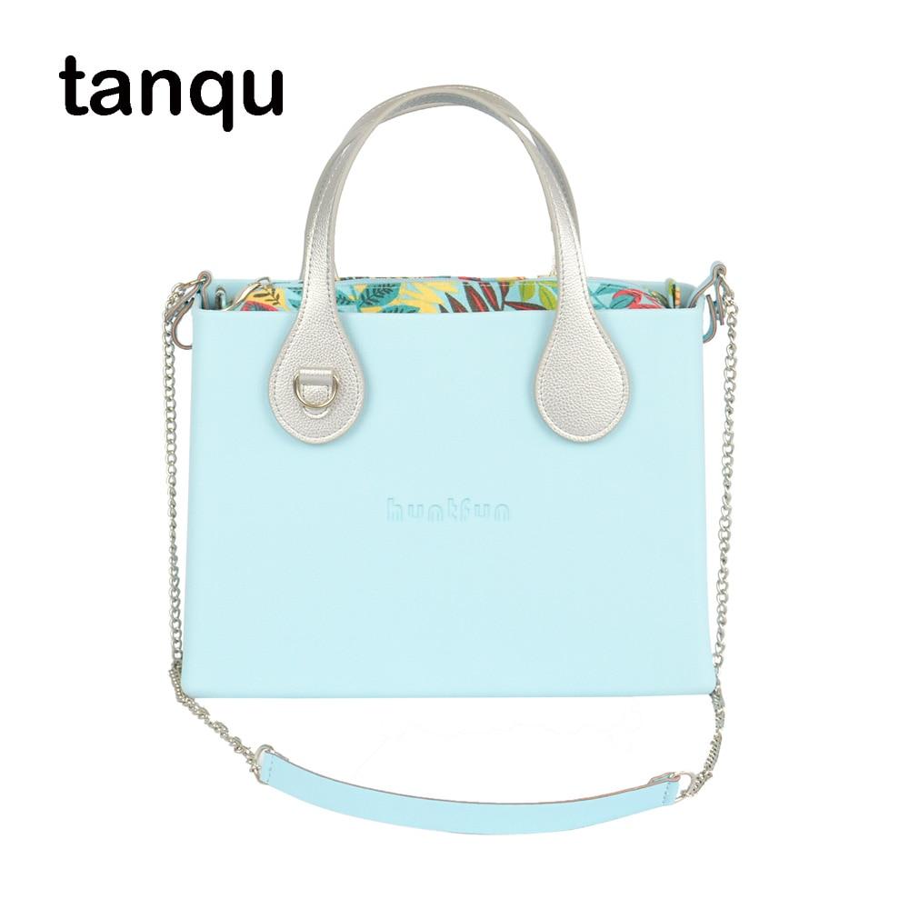huntfun square EVA Bag with flat buckle Handle Shoulder Chain colorful waterproof inner pocket O bag style women Obag Handbag
