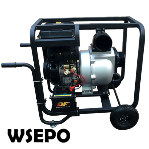 Factory Direct Supply! 192F 13HP Diesel Engine Powered 6 inch Inlet& Outlet Aluminum Drainage Water Pump with Electric Start factory direct supply inlet 2 5 in outlet 2 in cast iron centrifugal water pump powered by wse 152f 2 5hp gasline engine