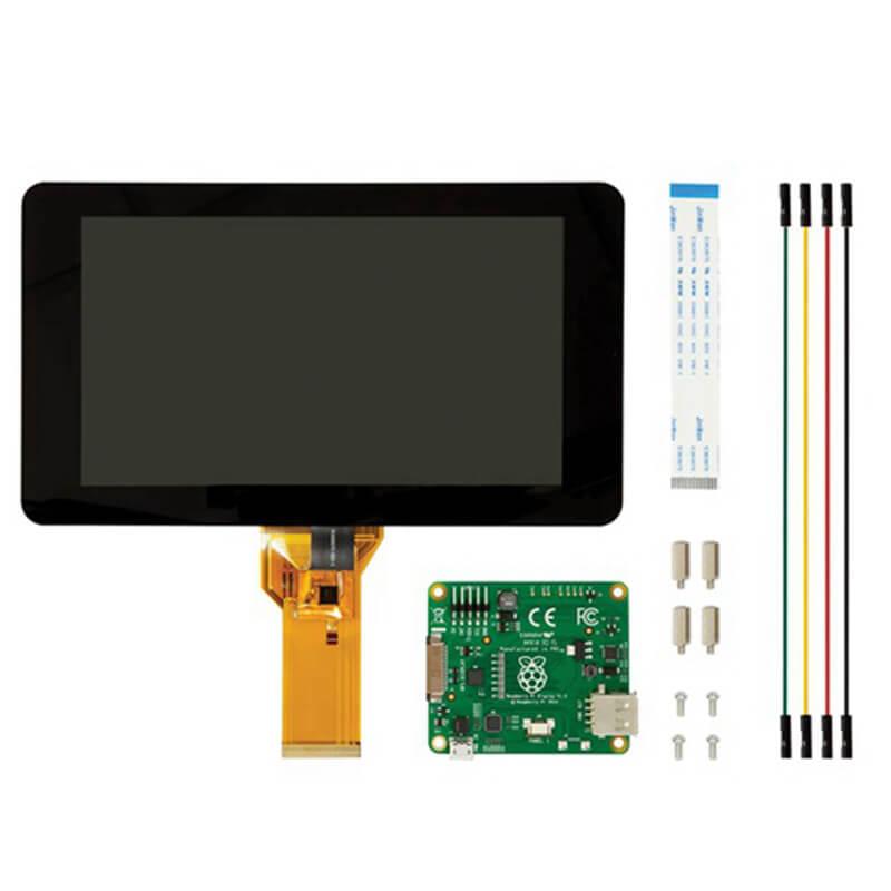 ЖК дисплей Elecrow Raspberry Pi 3, сенсорный экран 7 дюймов, 10 пальцев, TFT 800x480, простой в использовании дисплей для Raspberry Pi 3B 2B +