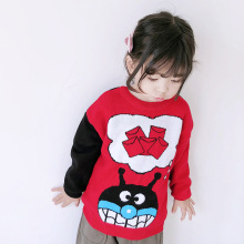 ANKRT 18 winter new childrens clothes thicker Christmas double-sided sweater and fluffy clothes.12M-6T