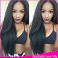 180% High Density Handmade Synthetic Lace Front Wig Long Silky Straight Cheap No Lace Synthetic Wigs Fiber For Black&White Women