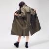 JAZZEVAR 2018 jesień nowe damskie casual trencz płaszcz oversize Podwójne breasted Vintage umyte Outwear luźne ubrania
