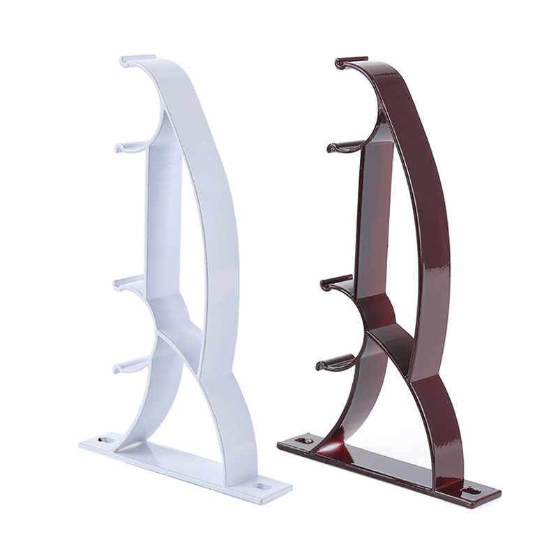 2 шт. крепление для карниза из алюминиевого сплава двойной держатель стержня сверхмощный металлический прочный базовый стержень Полюс
