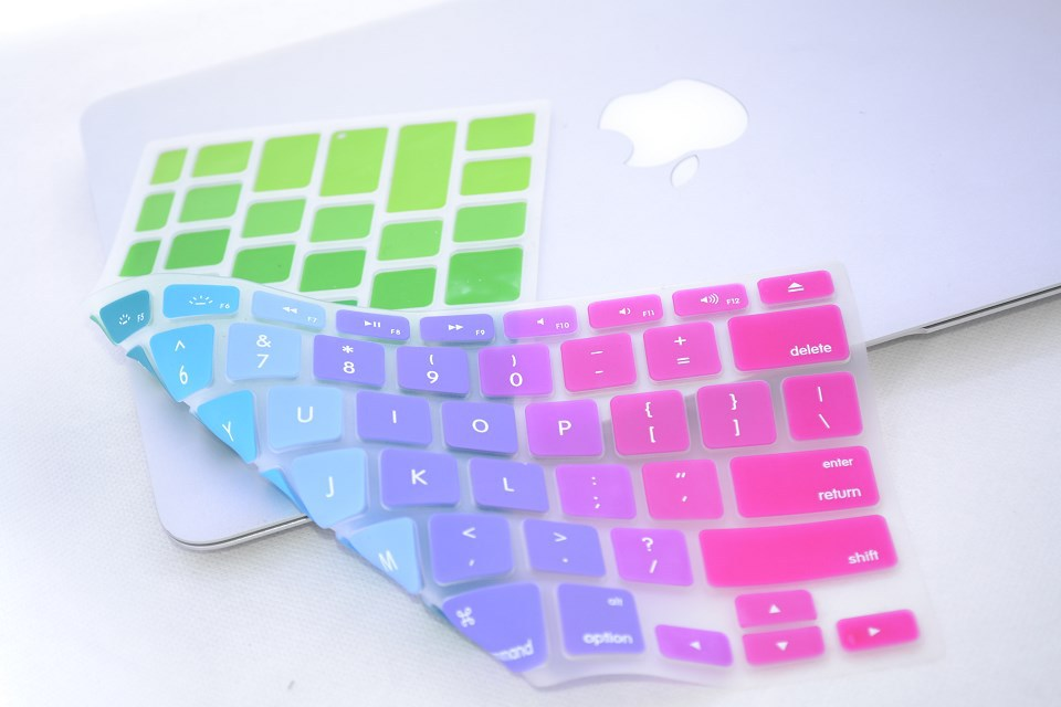 Hot sale Dazzle colour US version Keyboard skin Cover for macbook air/pro/pro retina 13.3 15.4 MEAFO image