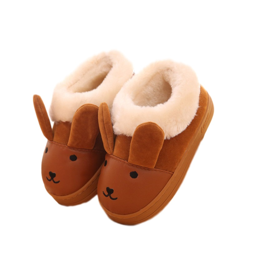Children s cartoon image pu leather snow boots Toddler Boy And Girl ... 175b7f1298be